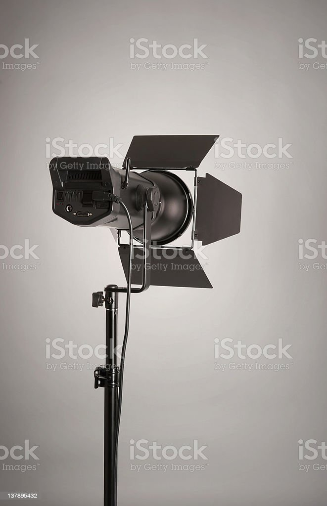 Studio lighting stock photo
