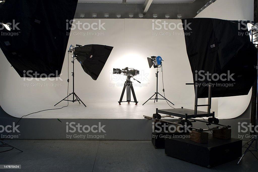 Studio Lighting. royalty-free stock photo