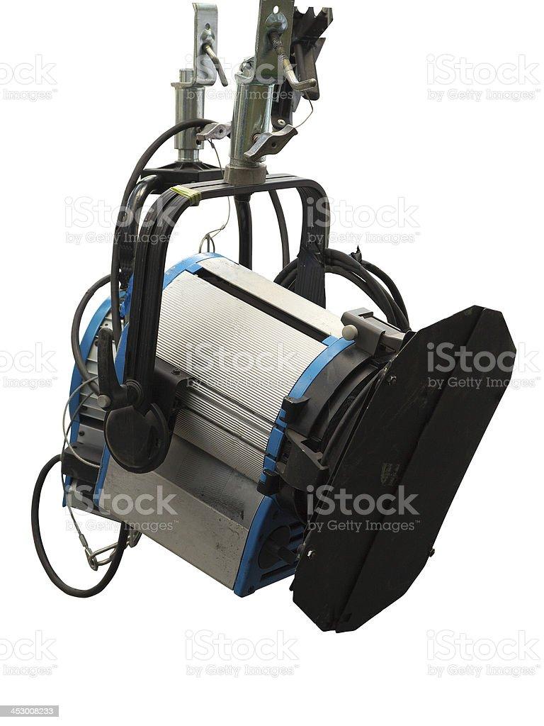 Fase de equipamento de iluminação de estúdio isolada no branco foto de stock royalty-free