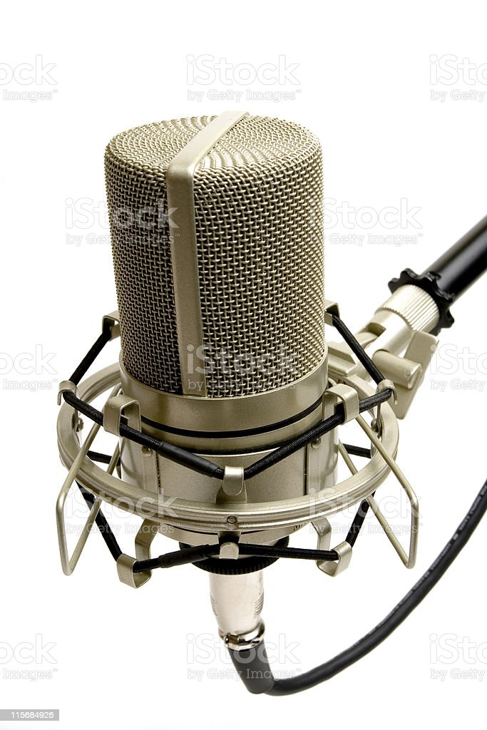 Studio mic royalty-free stock photo