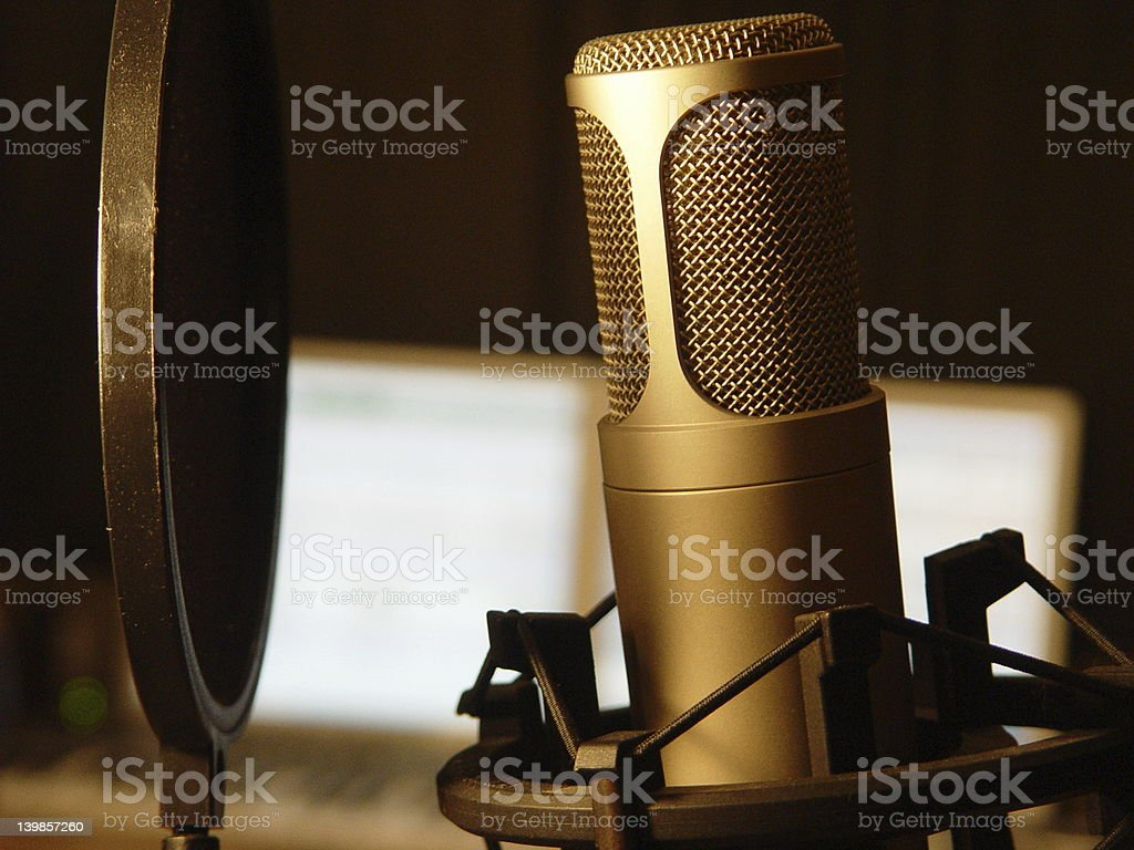 Studio Microphone for Music Recording royalty-free stock photo