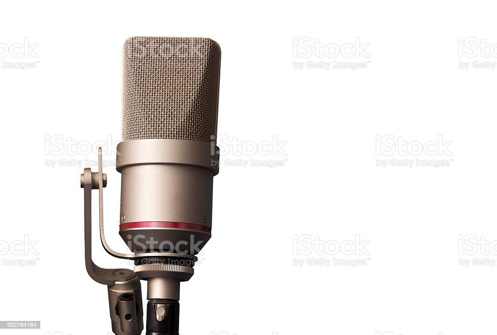 studio microphone in the recording studio stock photo