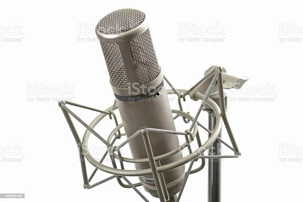 Studio microphone on stand royalty-free stock photo