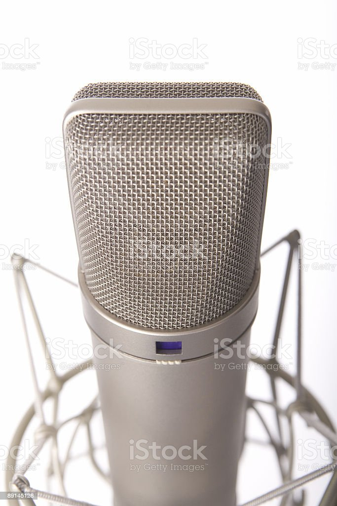 Studio Microphone royalty-free stock photo
