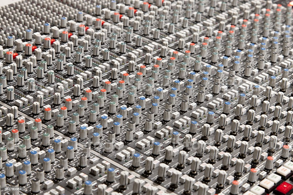 Studio Mixing Board royalty-free stock photo