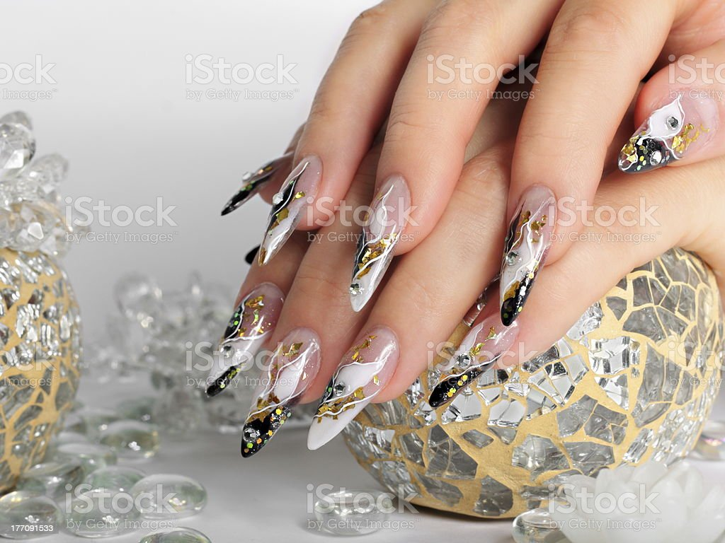 Studio nail royalty-free stock photo