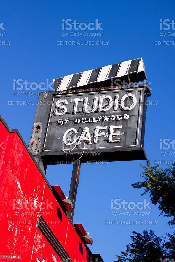 Studio of Hollywood Cafe royalty-free stock photo