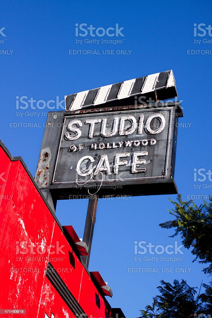 Studio of Hollywood Cafe stock photo