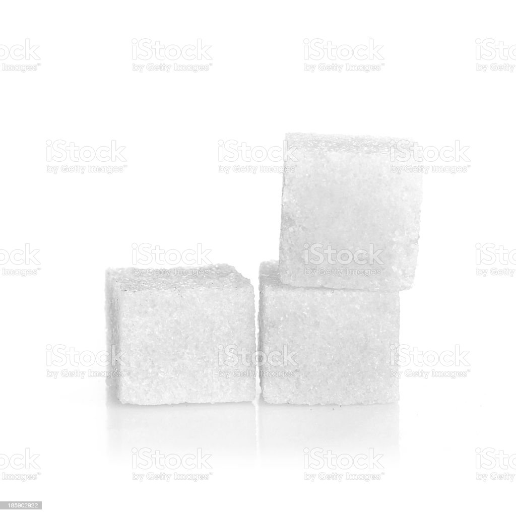 Studio photography of a lump sugar royalty-free stock photo