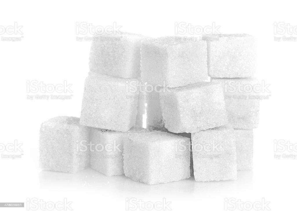 Studio photography of a lump sugar royalty-free stock photo