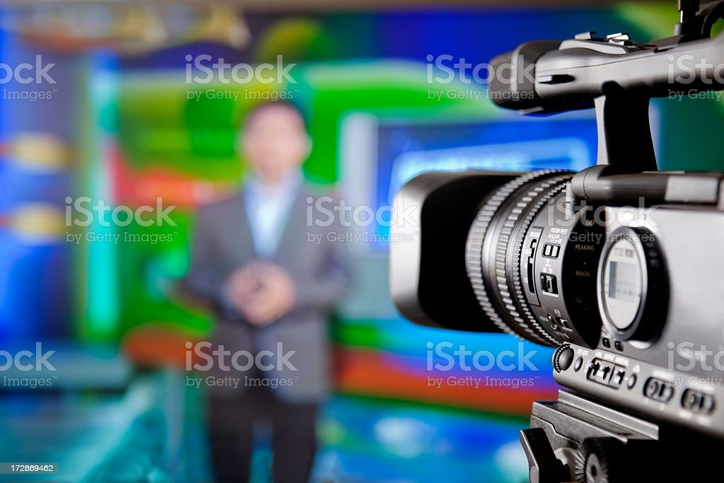 TV studio royalty-free stock photo