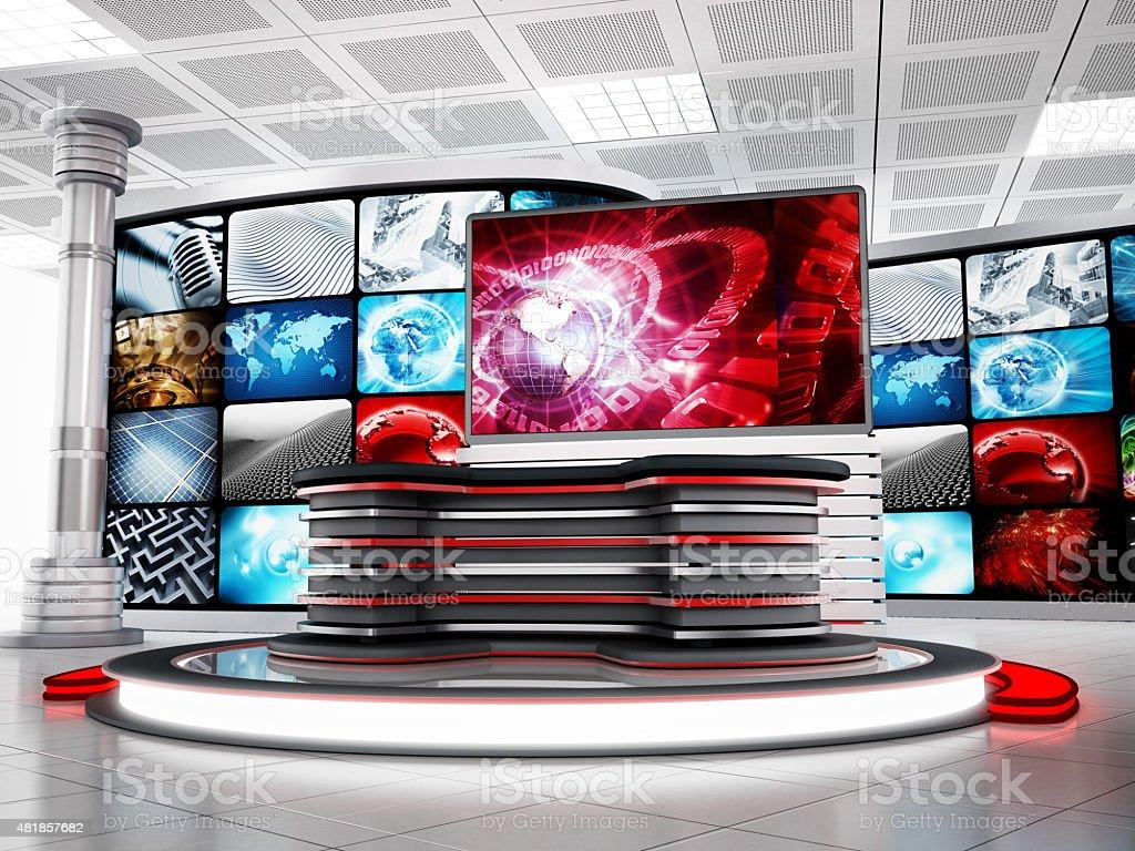 TV studio stock photo