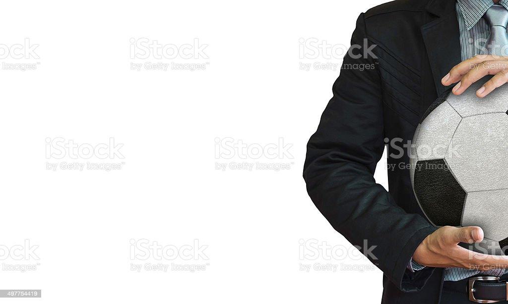 Studio picture of football coach stock photo