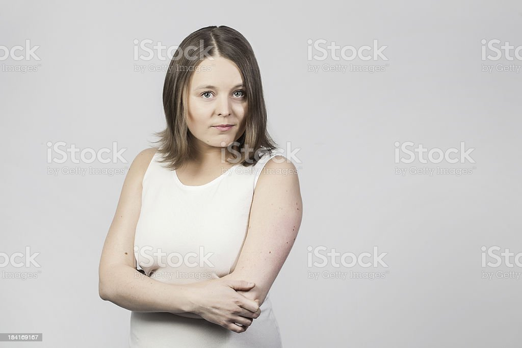 Studio portrait of an ambitious businesswoman royalty-free stock photo
