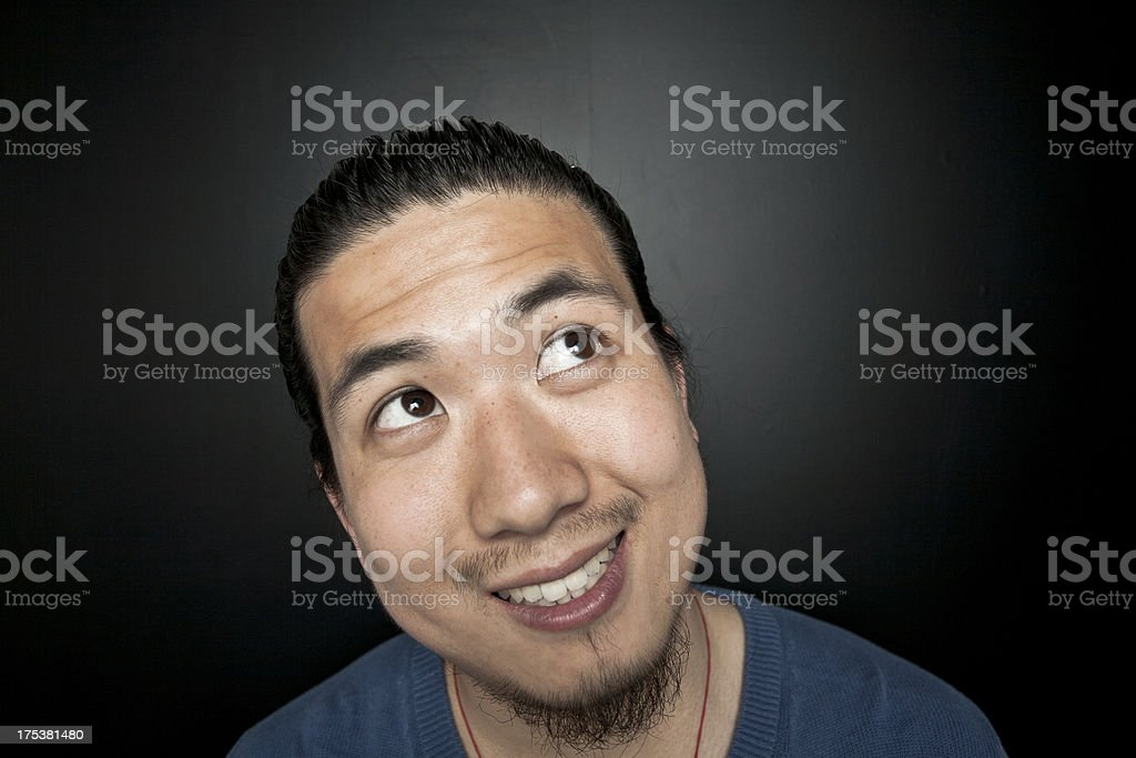 Studio portrait of asian young man royalty-free stock photo