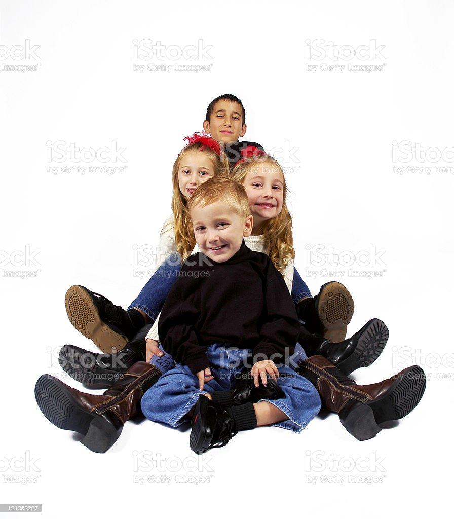 Studio Portrait of Beautiful Children royalty-free stock photo