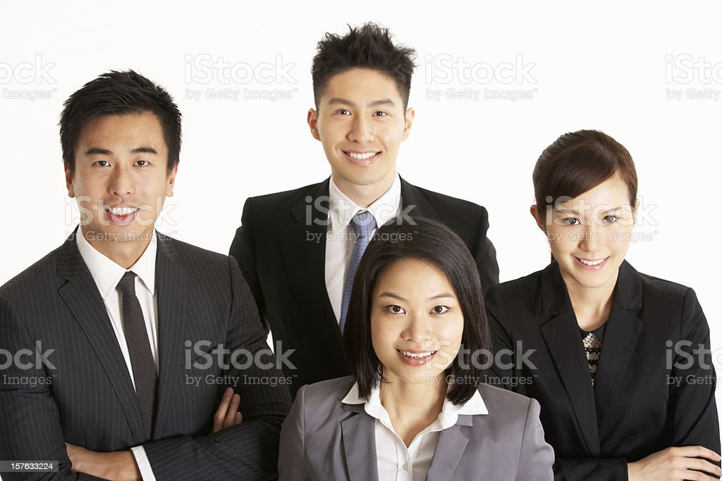 Studio Portrait Of Chinese Business Team royalty-free stock photo