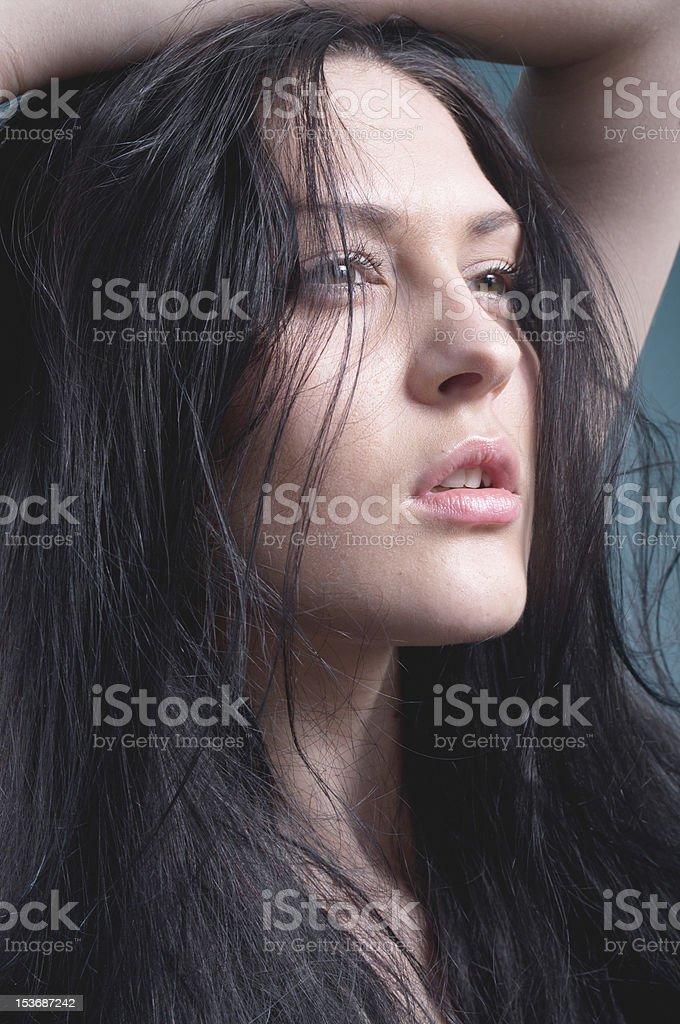 Studio portrait of model royalty-free stock photo