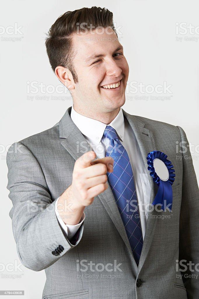 Studio Portrait Of Untrustworthy Politician stock photo