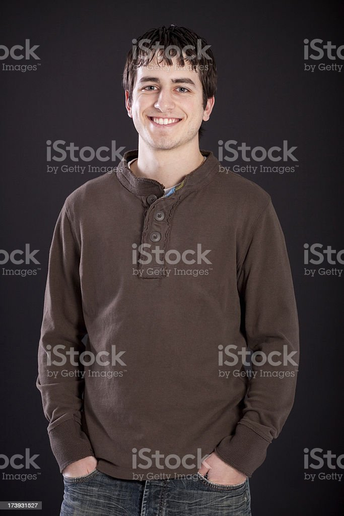 Studio Portrait of Young Male Adult royalty-free stock photo