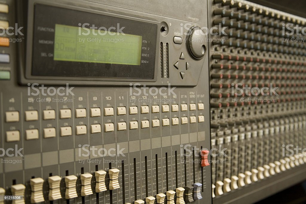 studio recording royalty-free stock photo