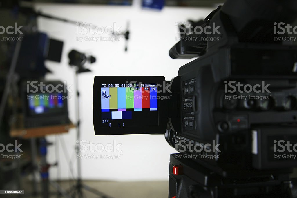 Studio setup 3 camera with viewfinder royalty-free stock photo