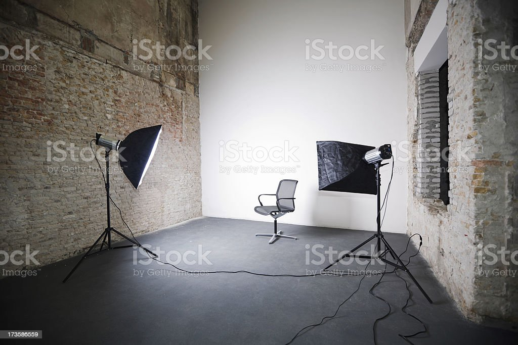 Studio Shoot of Office Chair stock photo