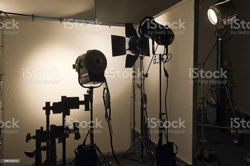 Studio shooting set stock photo