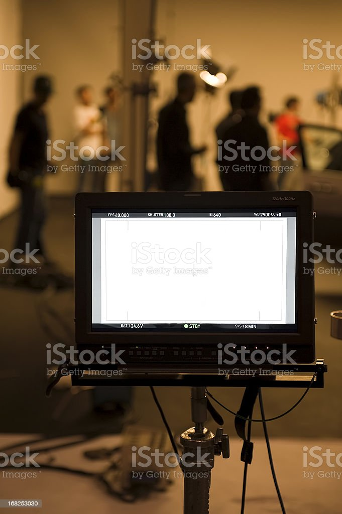Studio shooting set with monitors royalty-free stock photo
