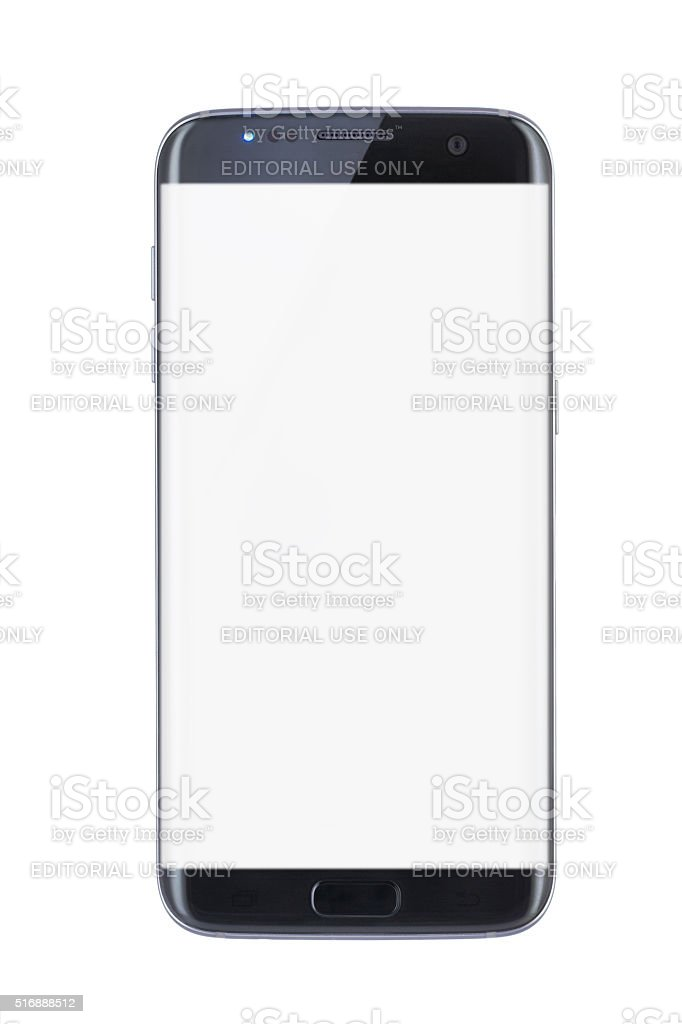 Studio shot of a black Edge smartphone stock photo