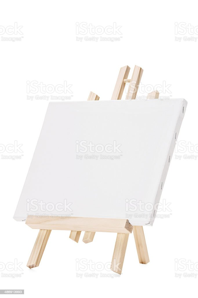 Studio shot of a blank canvas on an easel stock photo