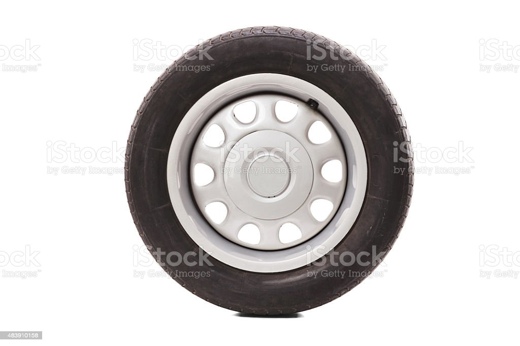 Studio shot of a car tire stock photo