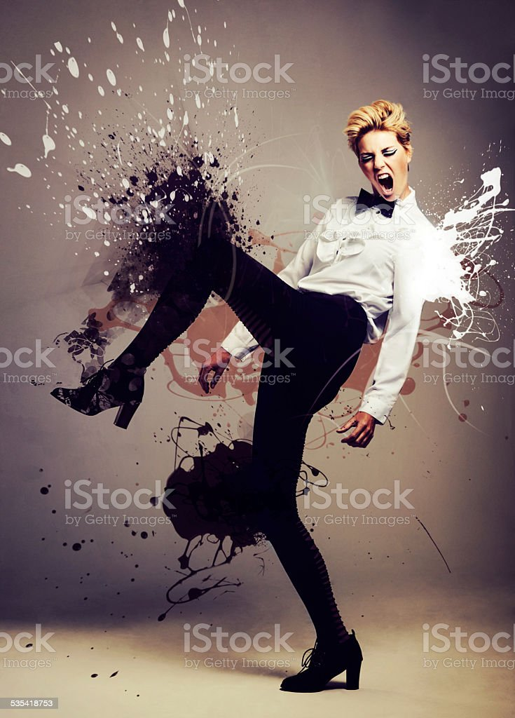 Making a splash stock photo