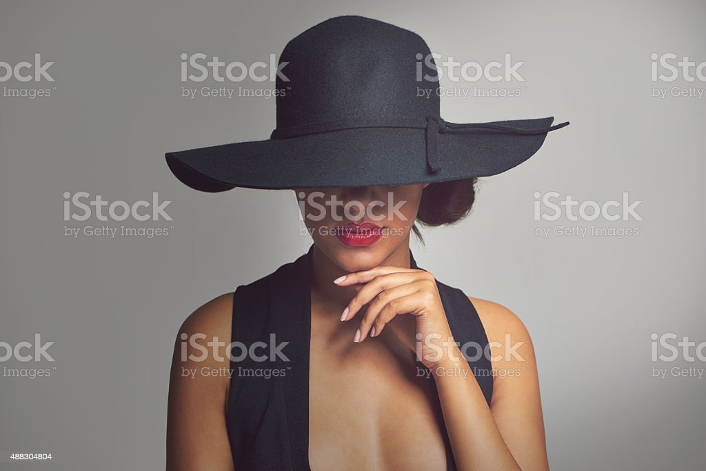 Beauty with a hint of mystery stock photo