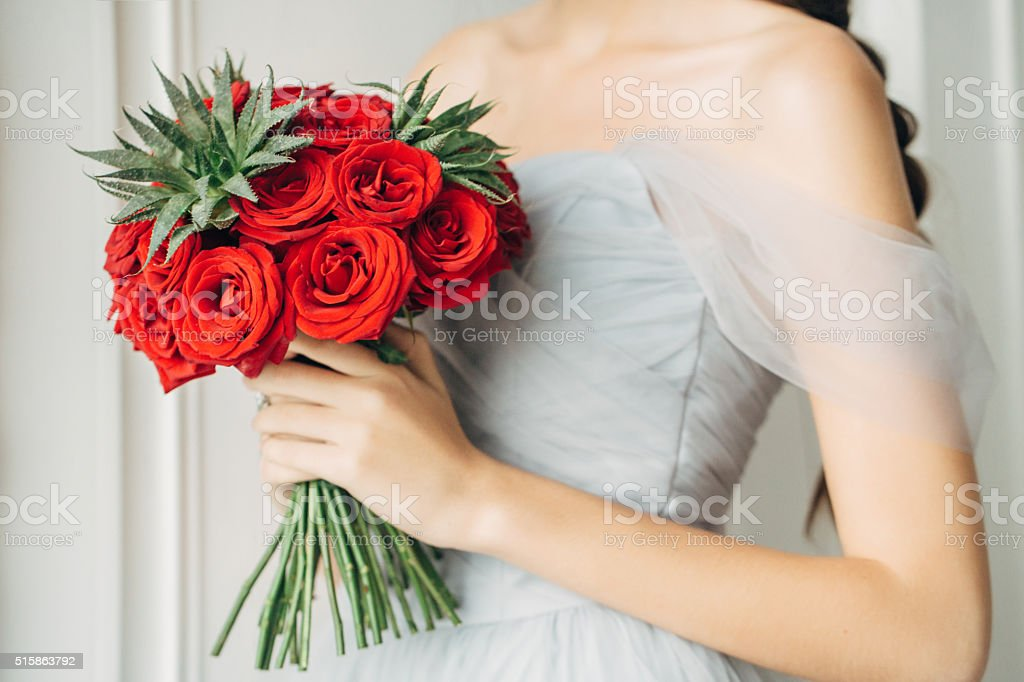 Studio shot of a wedding bouquet stock photo