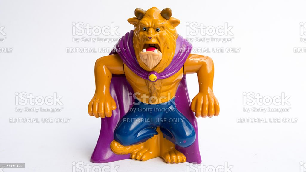 Studio shot of Beast figure from Beauty and the Beast stock photo