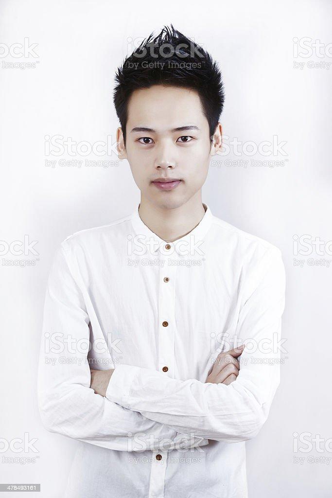 Studio Shot of Chinese Man stock photo