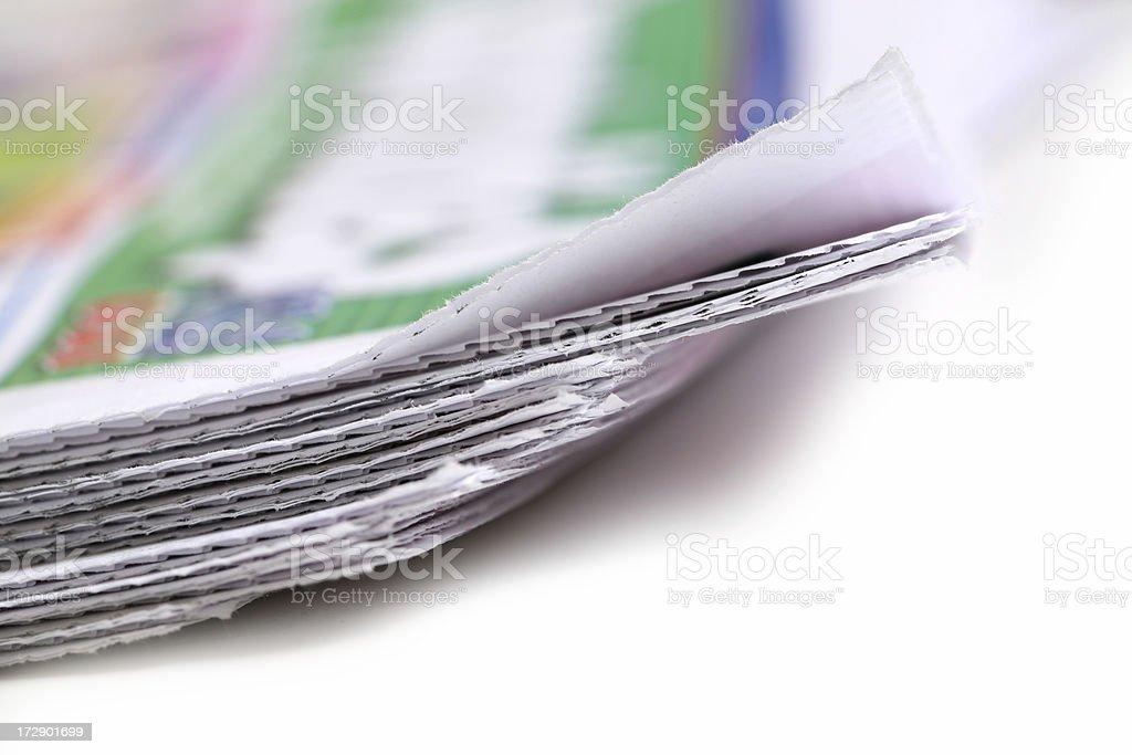 Studio shot of Newspaper royalty-free stock photo
