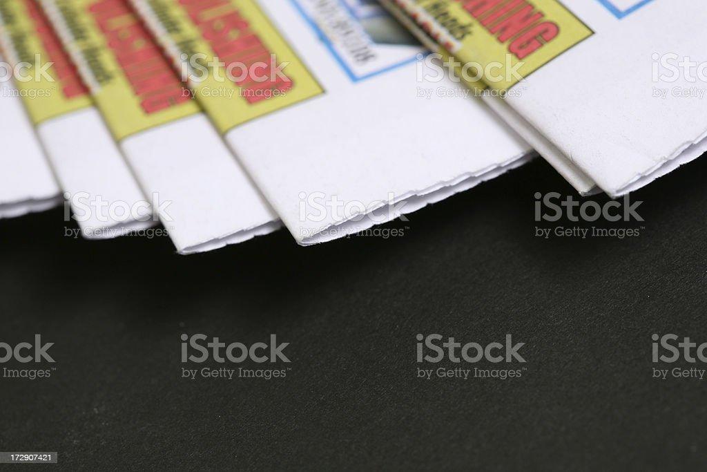 Studio shot of Newspaper (black background) royalty-free stock photo