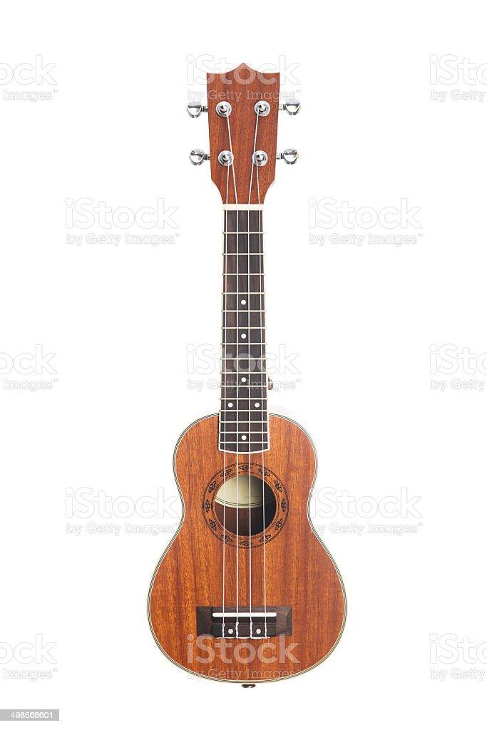 Studio shot of ukulele guitar stock photo