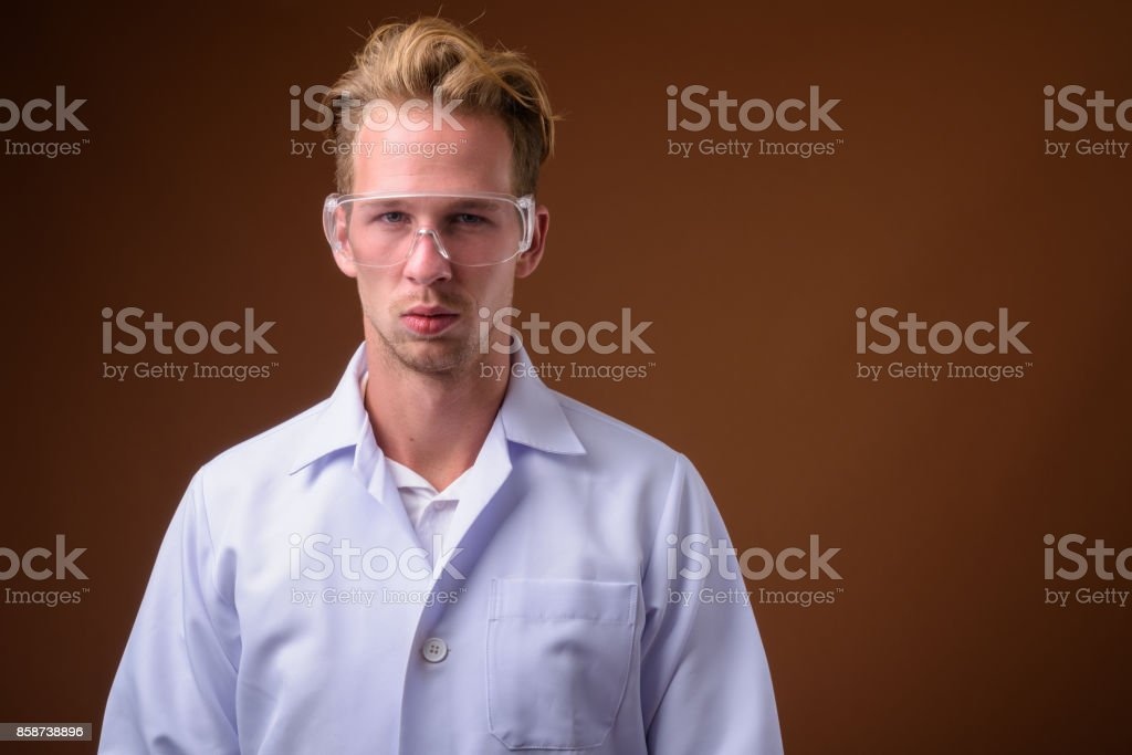 blonde man is punishing the hot doctor wearing glasses  77982