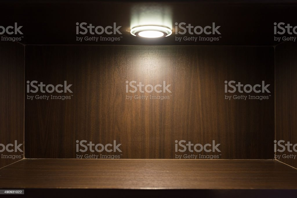 Studio wooden base, background and floor made of wooden planks. stock photo