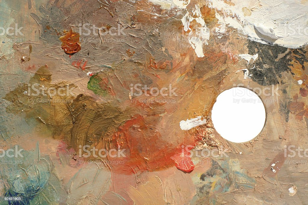studioArt paint palette stock photo