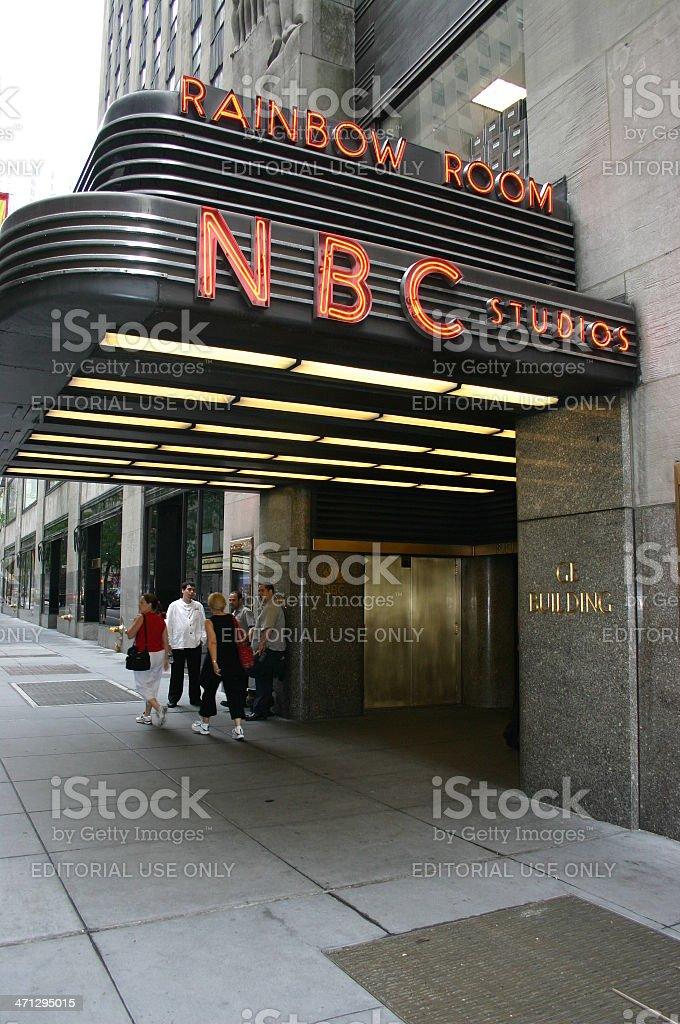 NBC Studios, entrance to GE Building. stock photo