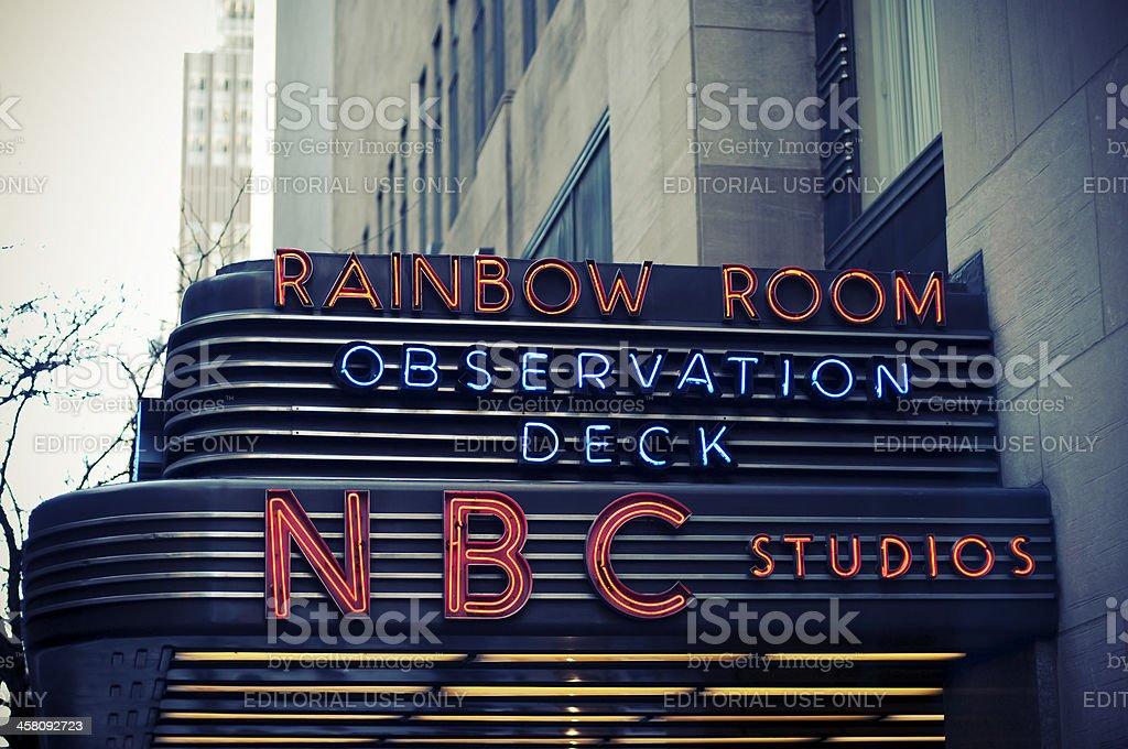NBC Studios in New York City stock photo