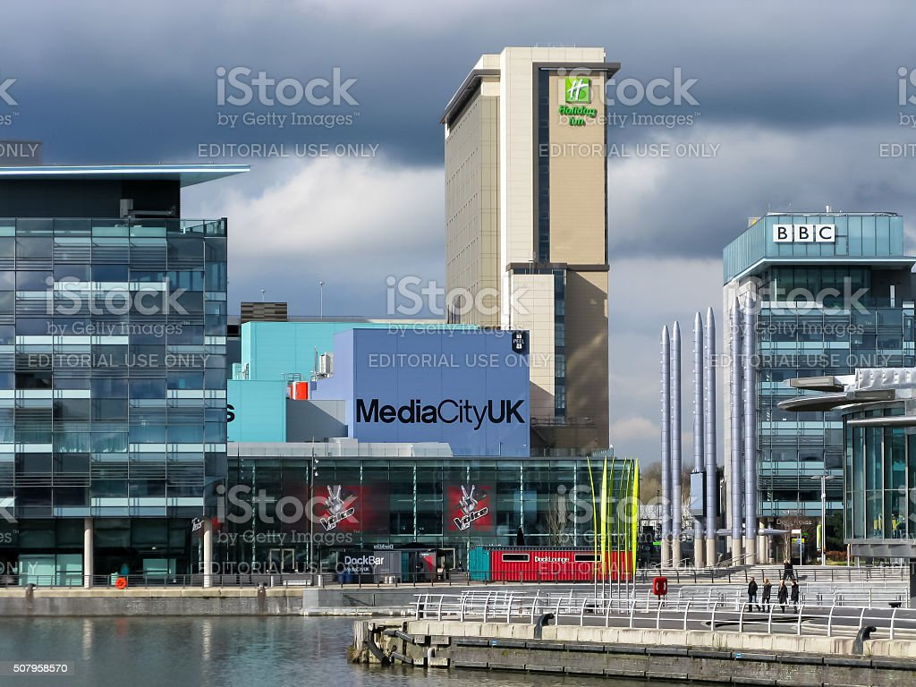 BBC Studios, MediaCityUK, Manchester stock photo