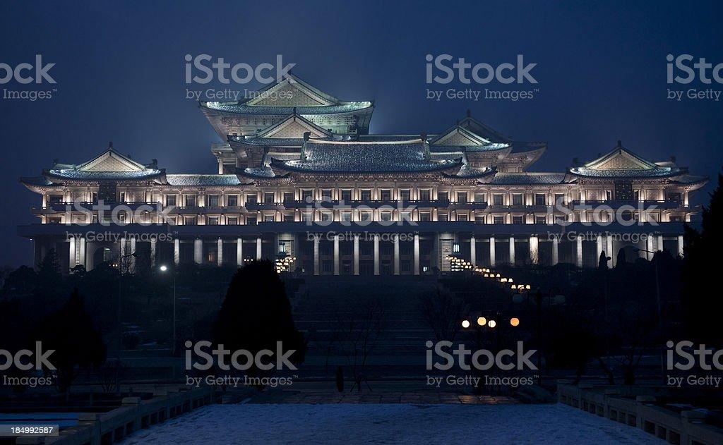 Studiy hall in Pyongyang stock photo