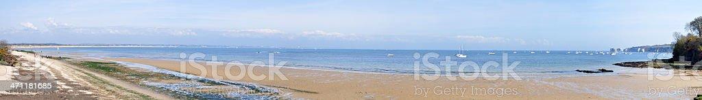 Studland Bay Panorama stock photo