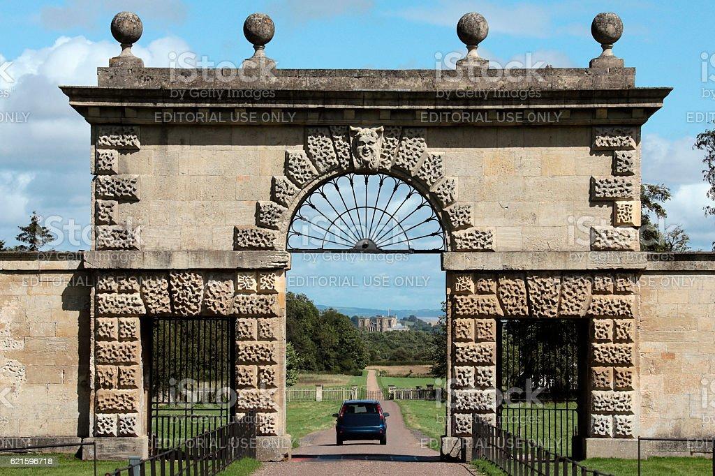 Studley Royal Park - towards Ripon Cathedral stock photo