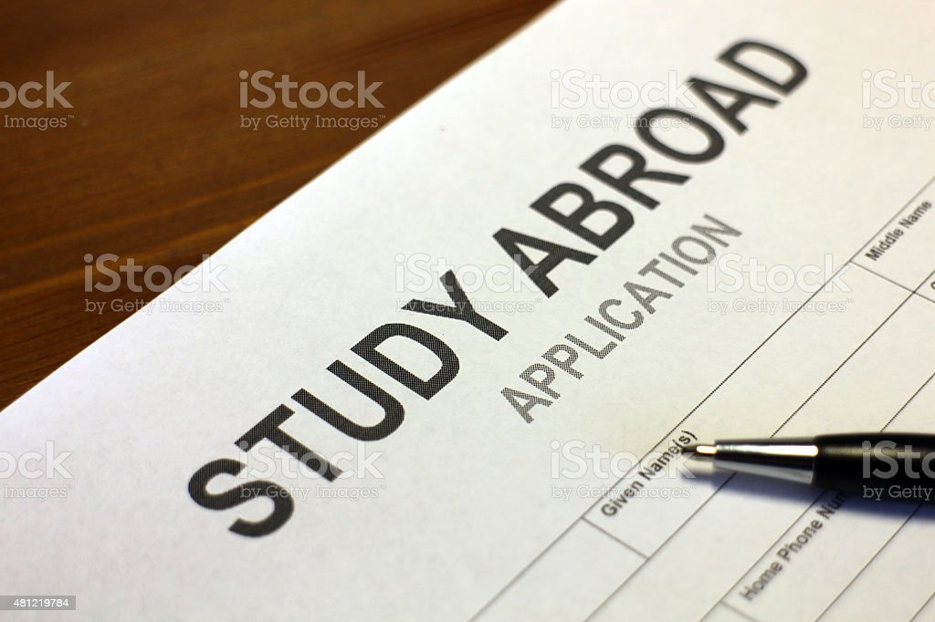Study Abroad Application Form stock photo